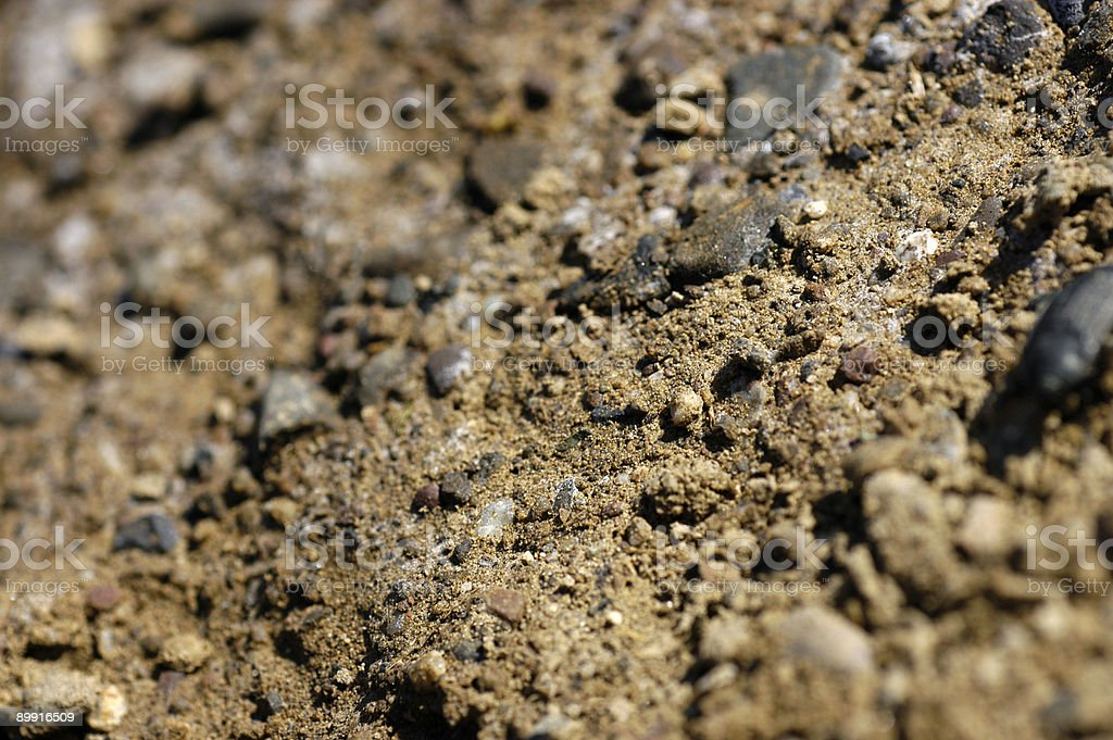Soil in shallow focus royalty-free stock photo