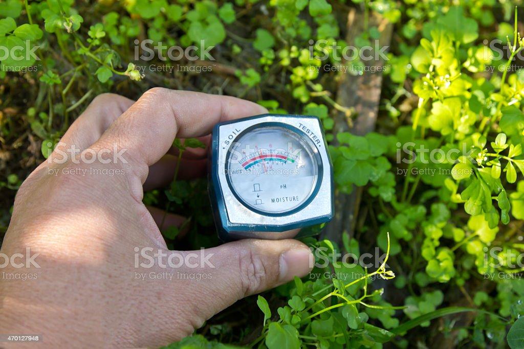 Soil moisture sensors stock photo