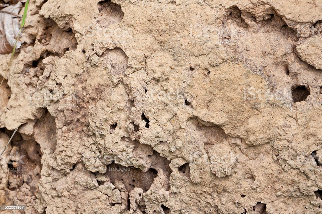 Soil of termite nests. royalty-free stock photo