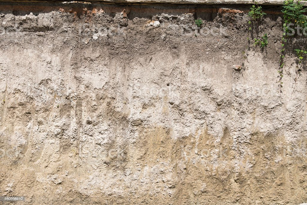 soil profile in cross section stock photo