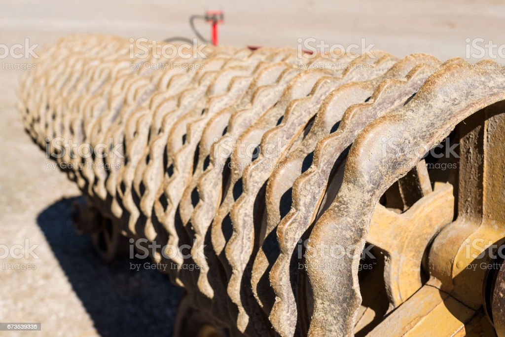 Soil roller stock photo