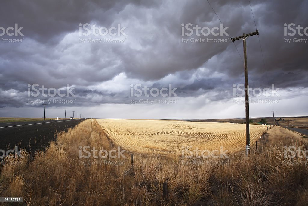 Soil rural road royalty-free stock photo