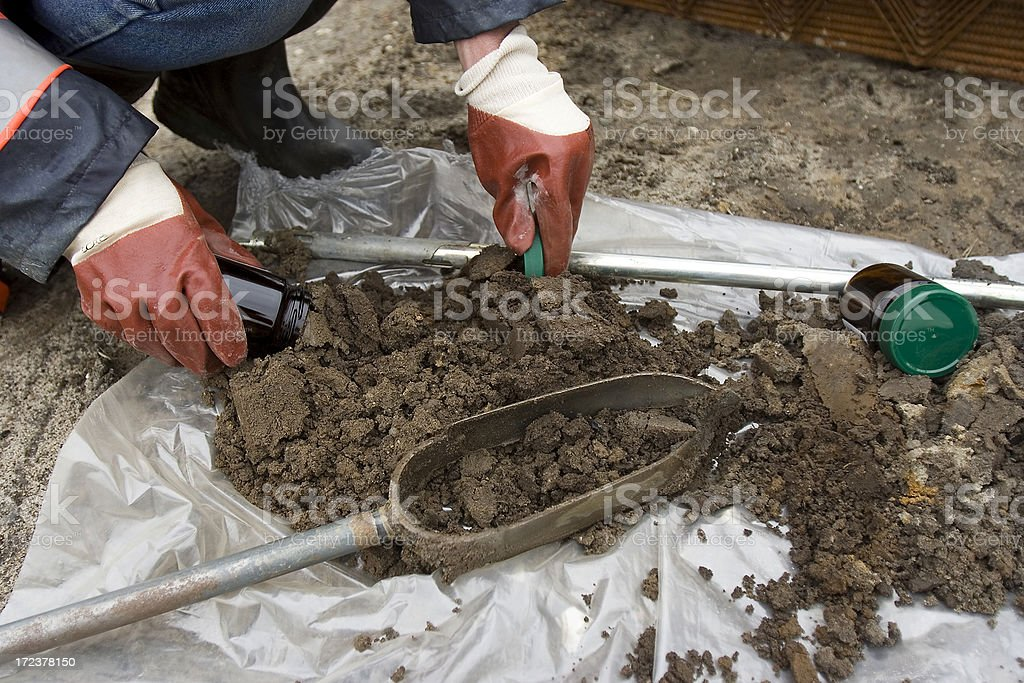 Soil samples stock photo