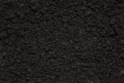 High angle wiev of a soil texture with copy space