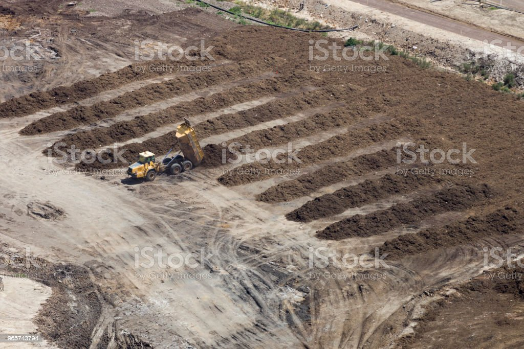 Soil Trucks Delivering Soil - Royalty-free Above Stock Photo