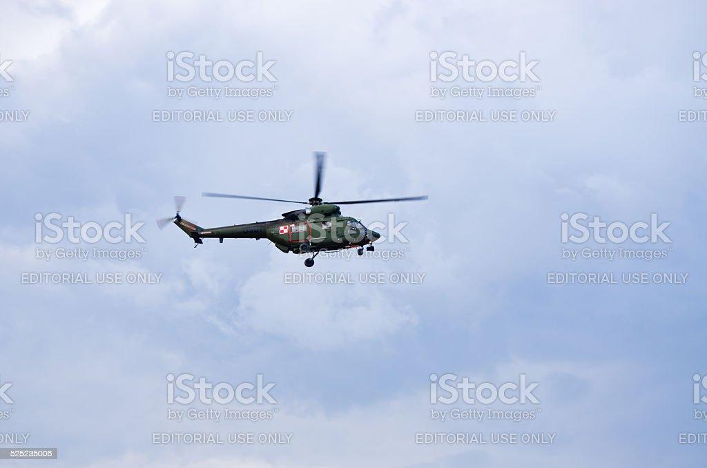 W-3 Sokol helicopter on Radom Airshow, Poland stock photo