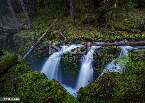 Waterfall, Washington State, Olympic Peninsula, Sol Duc River, Temperate Rainforest