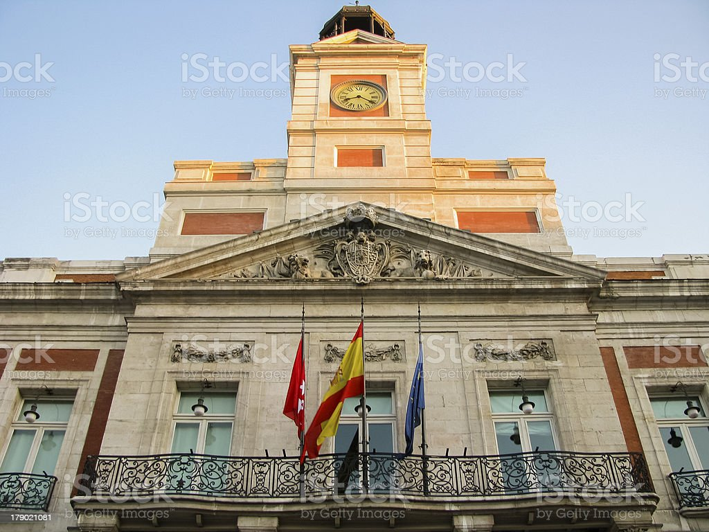 Sol Gate in Madrid royalty-free stock photo