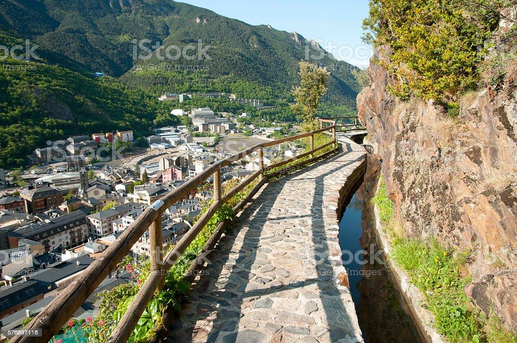 Sola Irrigation Canal - Andorra - foto de acervo