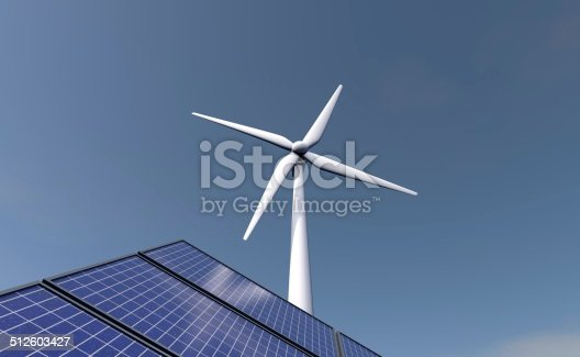 480763537 istock photo Solar and wind energy - the power of the future 512603427