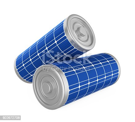 istock Solar Batteries Isolated 922672708