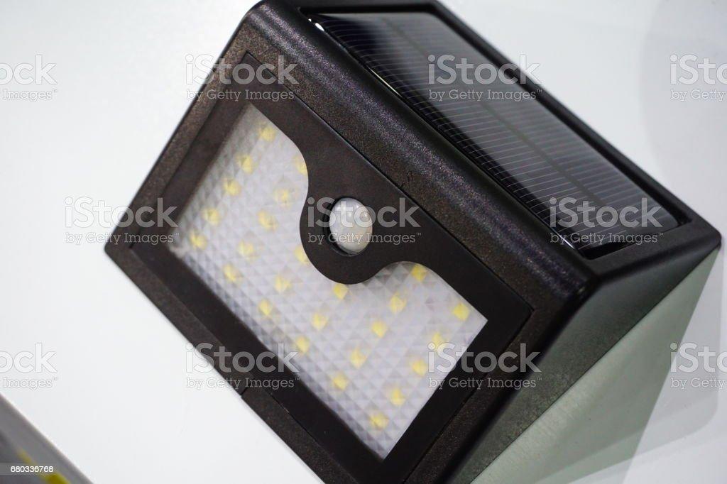Solar battery and LED royalty-free stock photo