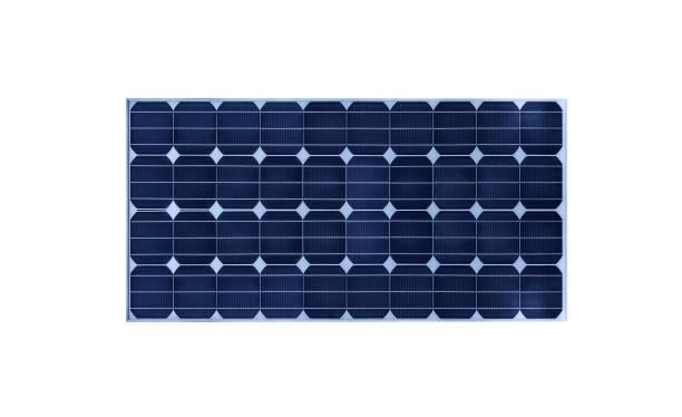 solar battery isolated on white background. - solar panel imagens e fotografias de stock