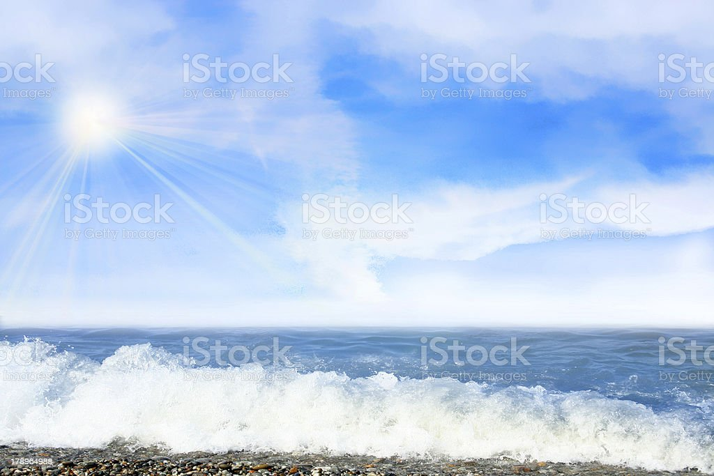 solar beach royalty-free stock photo