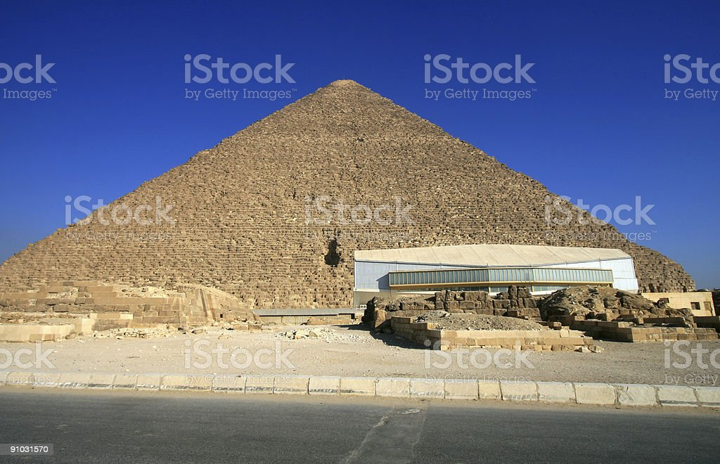 Solar Boat Museum in Giza, Egypt royalty-free stock photo