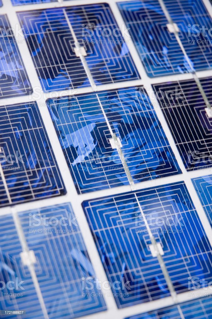 Solar Cell Abstract royalty-free stock photo