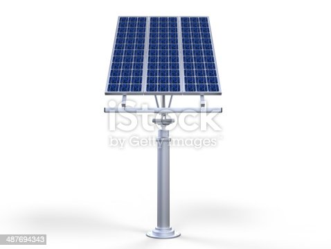 Solar Cell Panel isolated on white background. 3D render