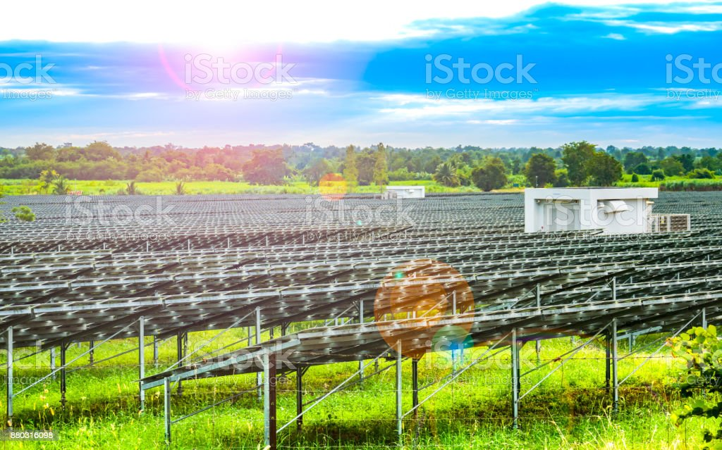 Solar cell source local stock photo