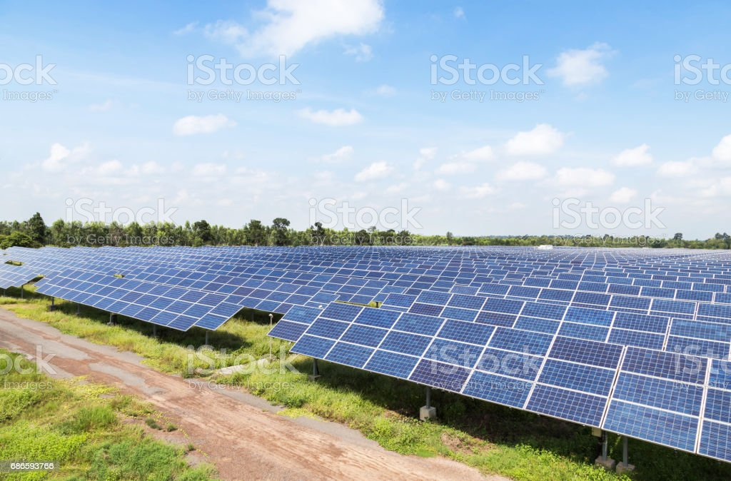 solar cells alternative energy from the sun royalty-free stock photo