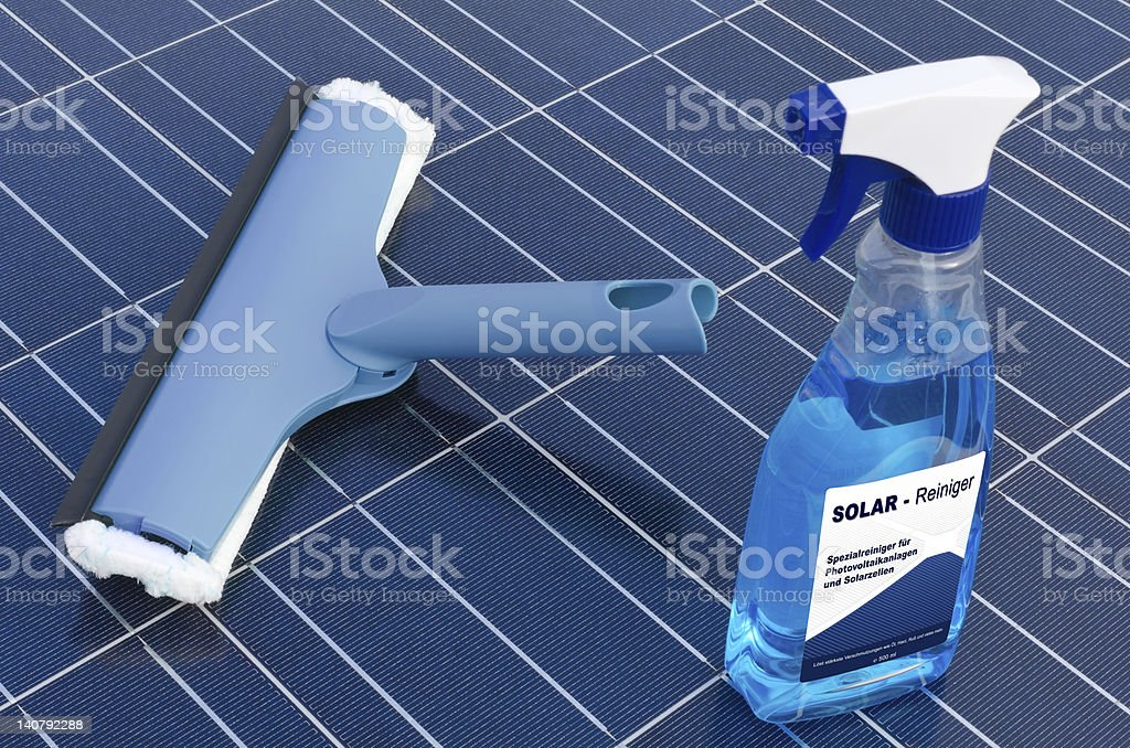 Solar cells and detergent  - german stock photo