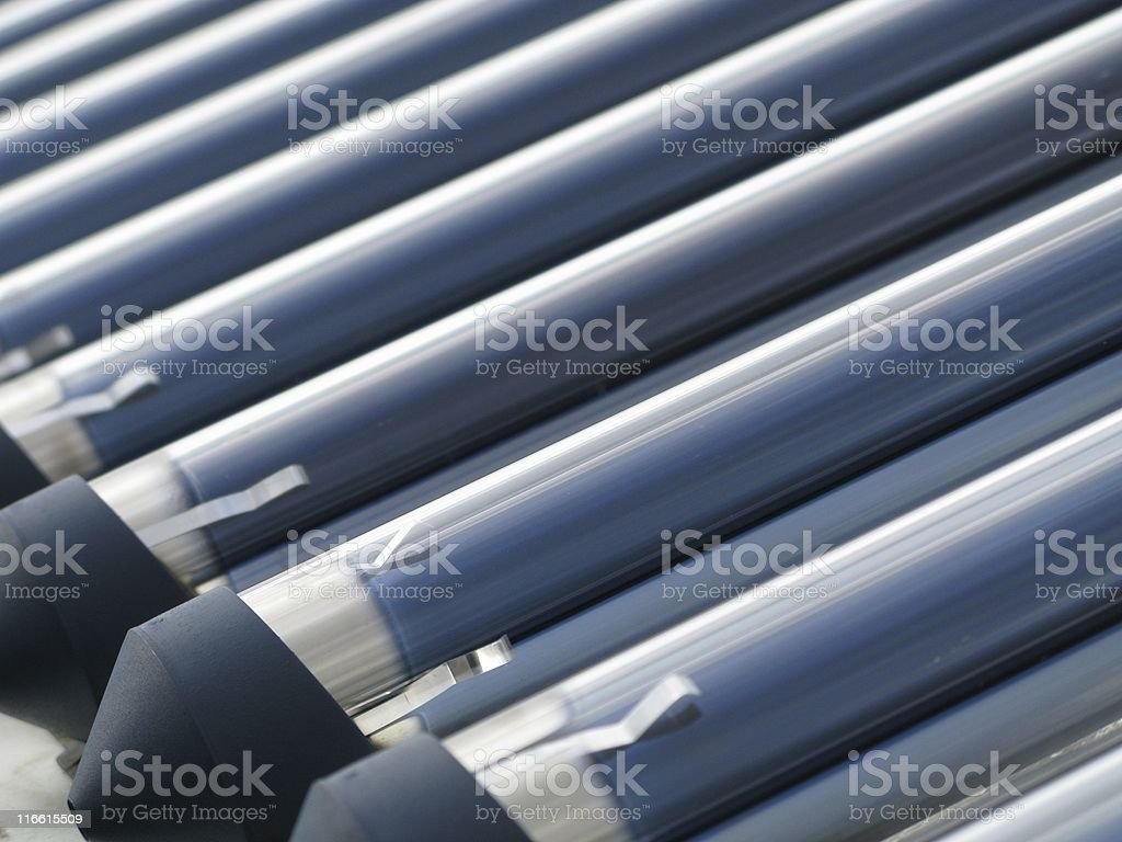 Solar cells on a roof royalty-free stock photo