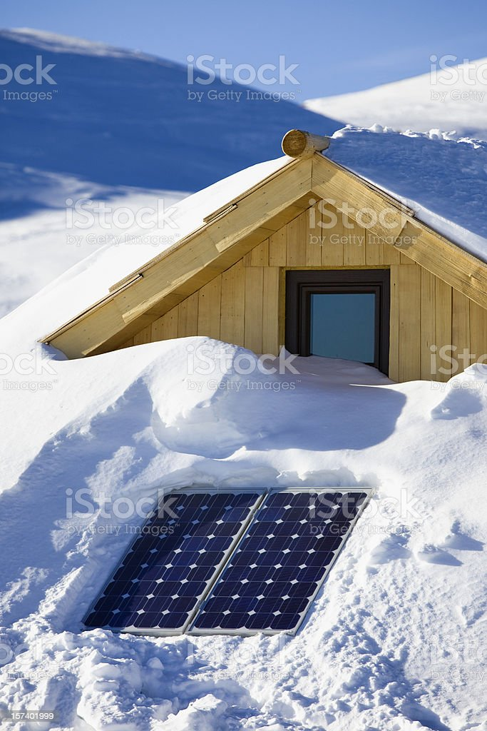 Solar cells on photovoltaic panels royalty-free stock photo