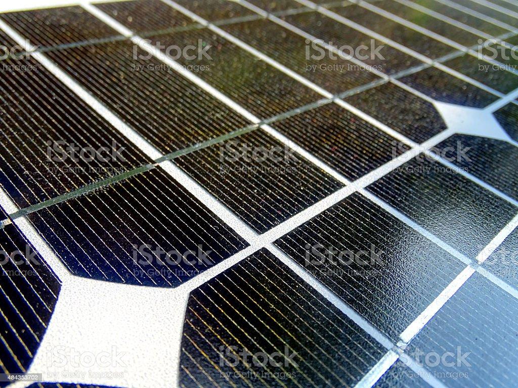 Solar cells stock photo
