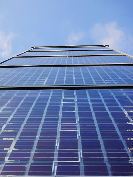 solar cells solar cell on on roof producing electricity antipollution stock pictures, royalty-free photos & images