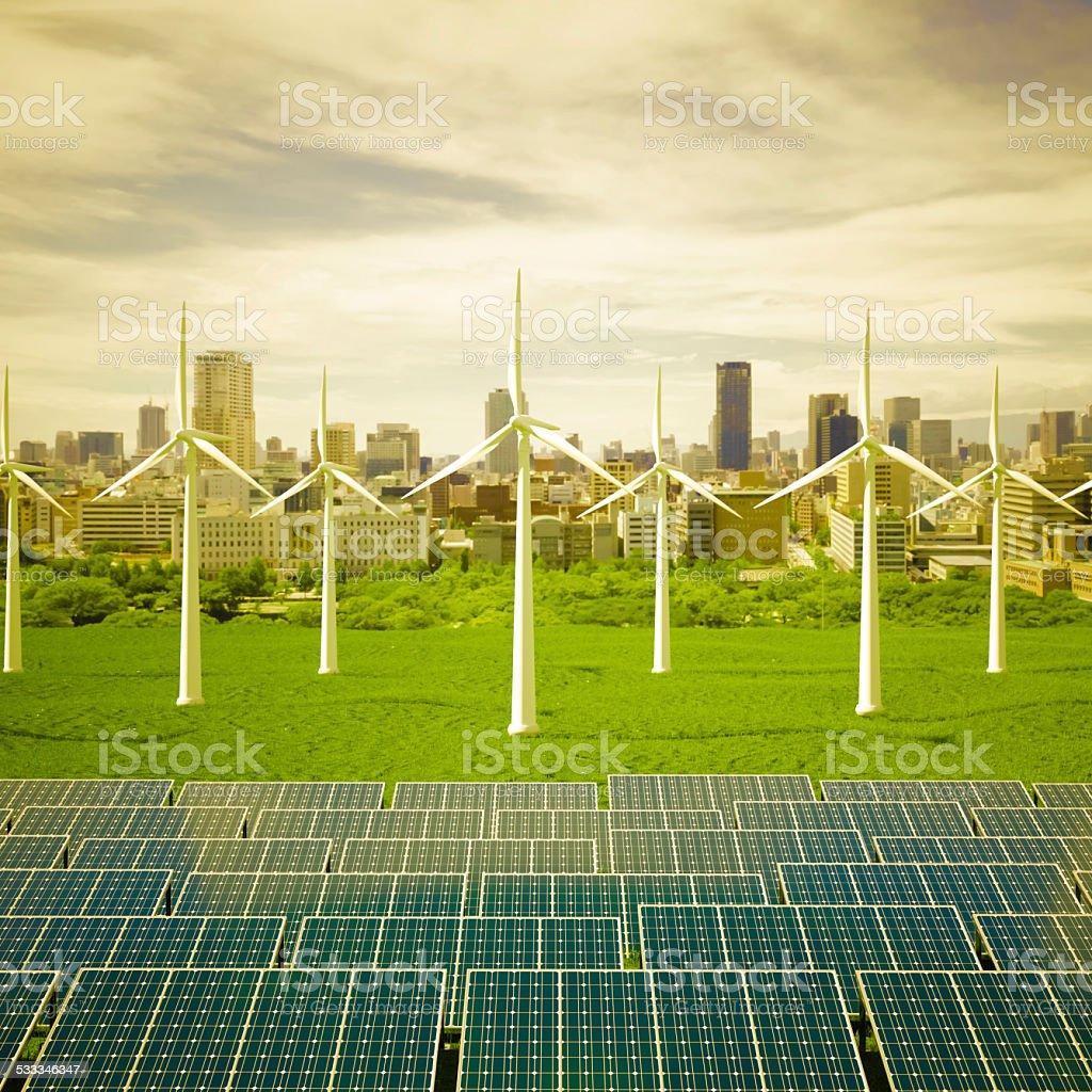 Solar City stock photo