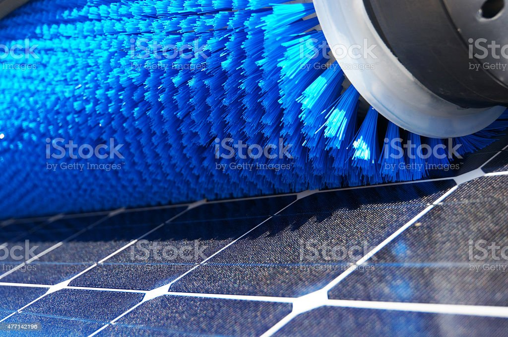 Solar Cleaning stock photo