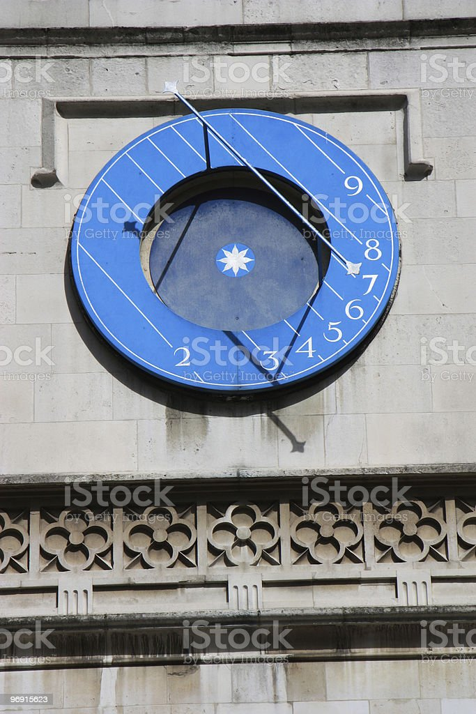 Solar clock royalty-free stock photo