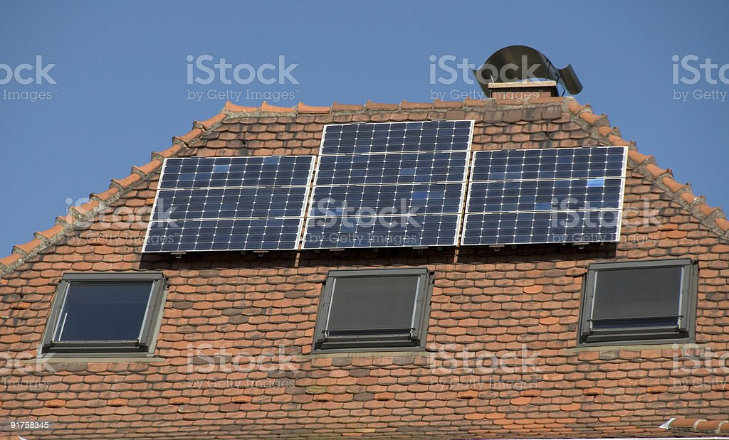 Solar Colectors royalty-free stock photo