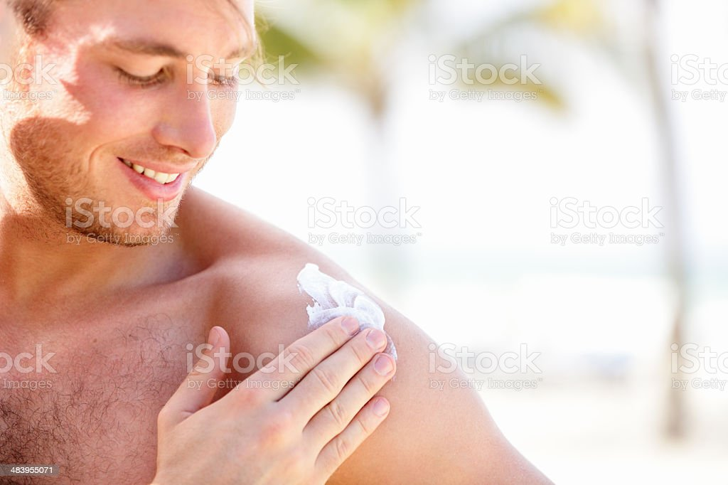 Solar cream / sunscreen stock photo