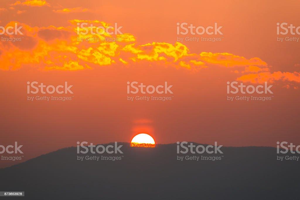 Solar disk stock photo