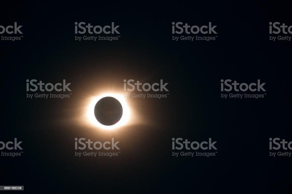Solar eclipse 2017 stock photo