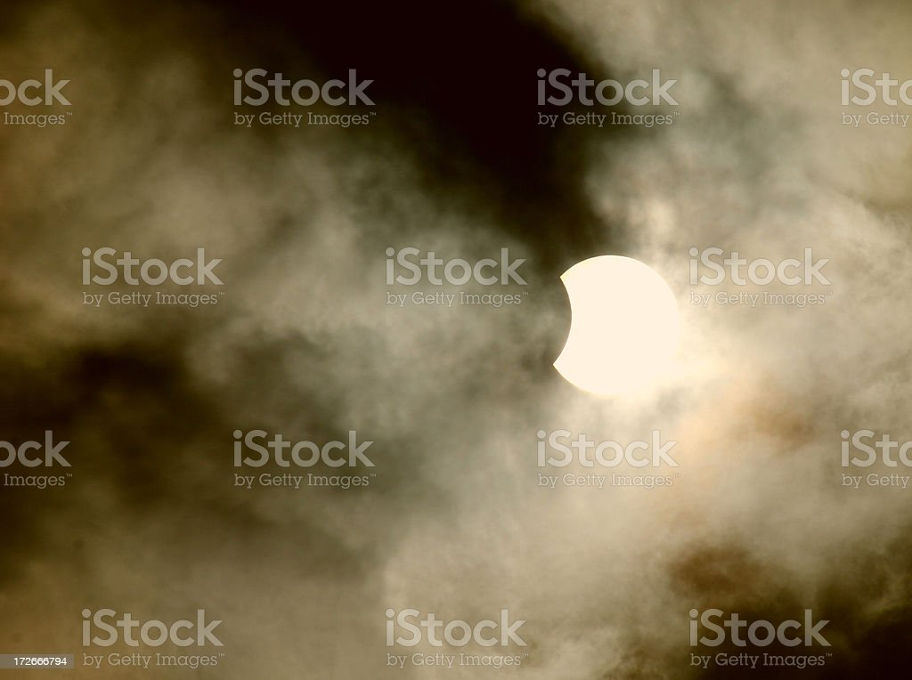 Solar Eclipse 4/8/2005 royalty-free stock photo