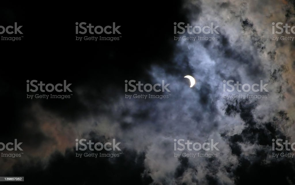 Solar eclipse at 70% phase royalty-free stock photo