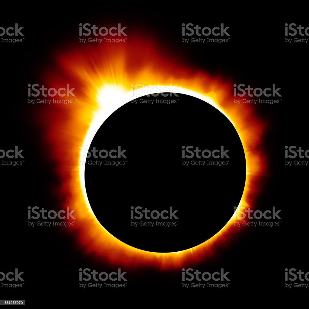 Solar eclipse background stock photo