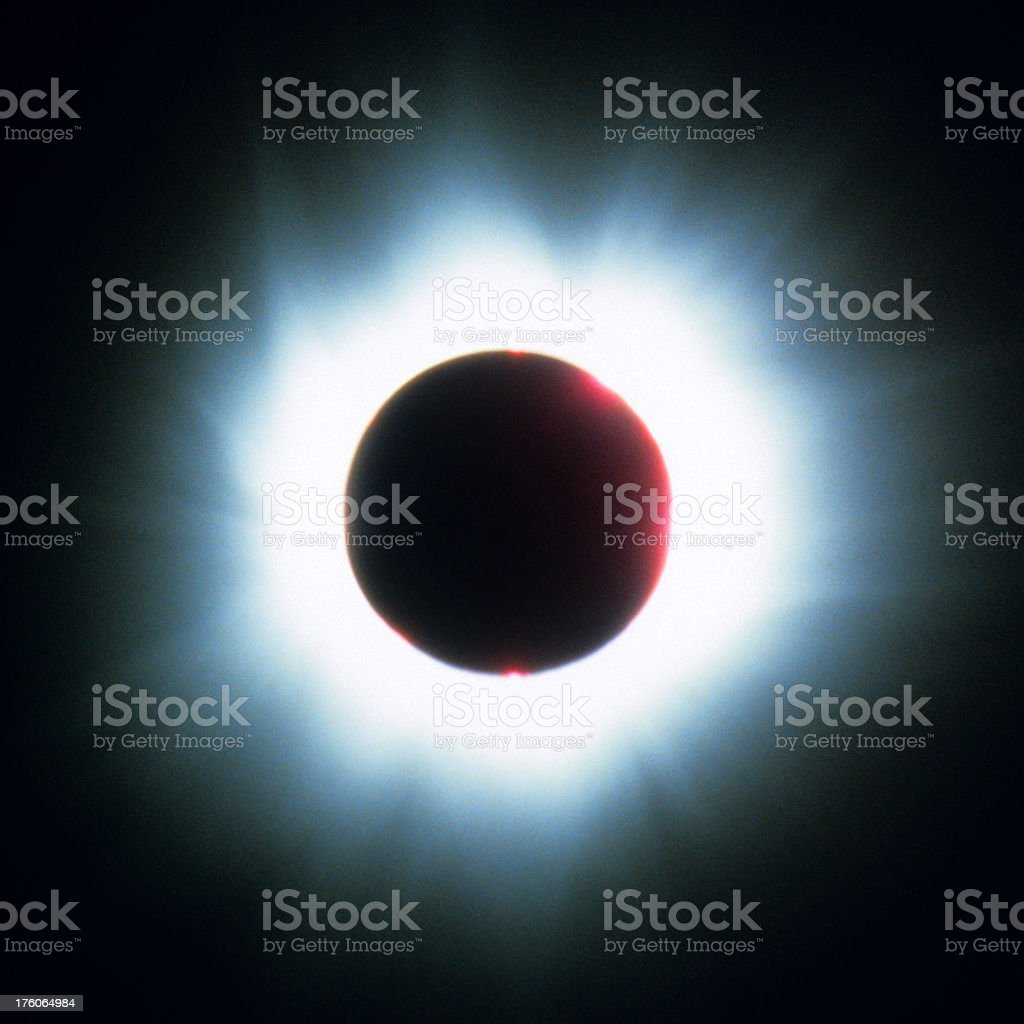 Solar Eclipse Corona royalty-free stock photo