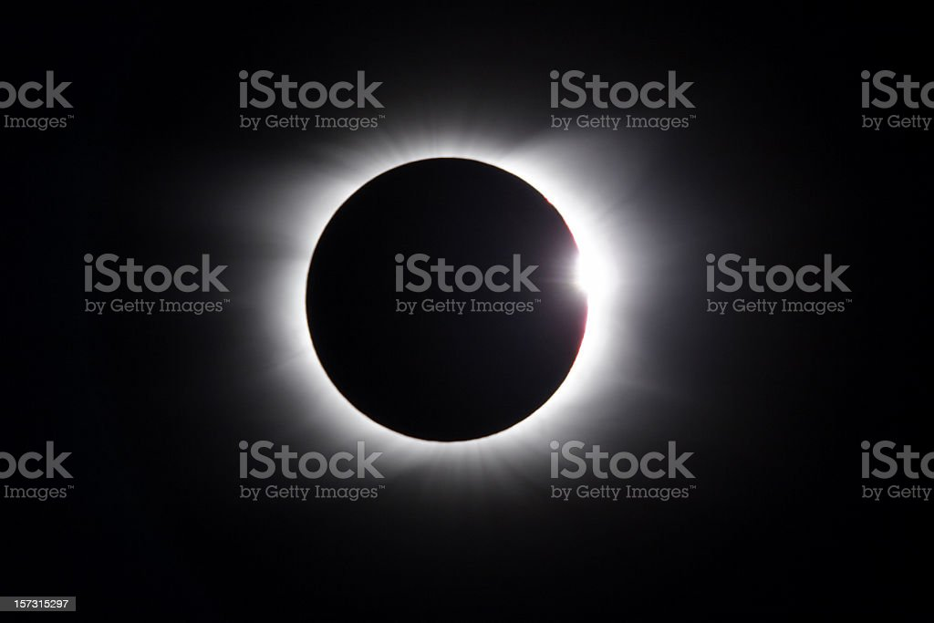 Solar Eclipse - diamond ring stock photo