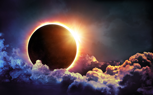 Total Solar Eclipse In Sky - Moon image furnished by NASA