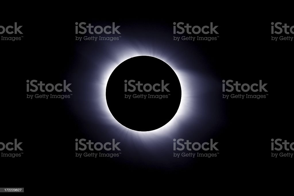 Solar eclipse on 29.03.2006 stock photo