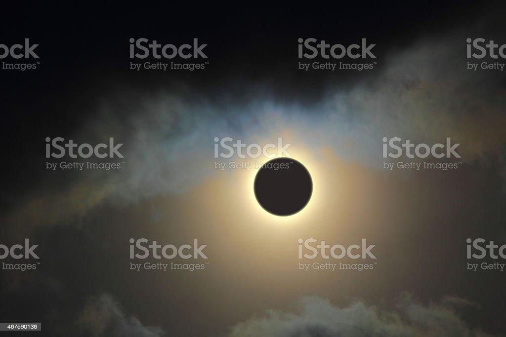 solar eclipse stock photo