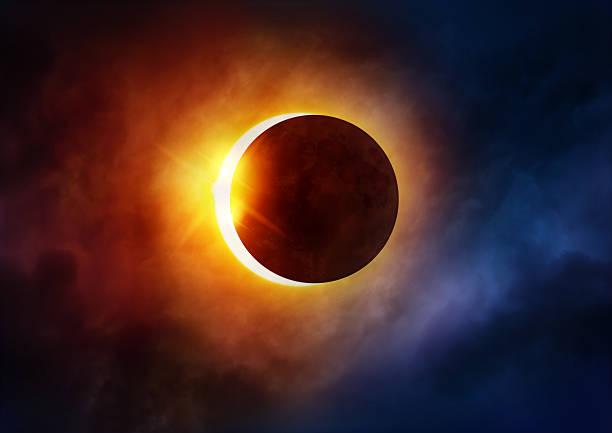 eclissi solare - flare foto e immagini stock