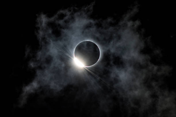 2017 Solar Eclipse Captured on the path of totality in Nebraska. 2017 stock pictures, royalty-free photos & images