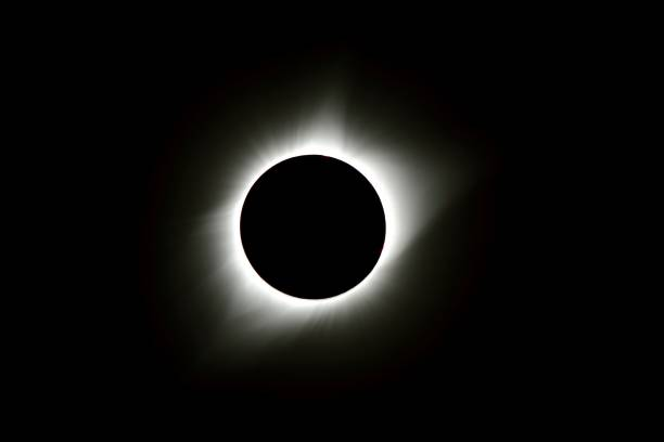 2017 Solar Eclipse Totality with Corona The full corona during totality of the 2017 Solar Eclipse taken from Goreville, Illinois on August 21, 2017. 2017 stock pictures, royalty-free photos & images
