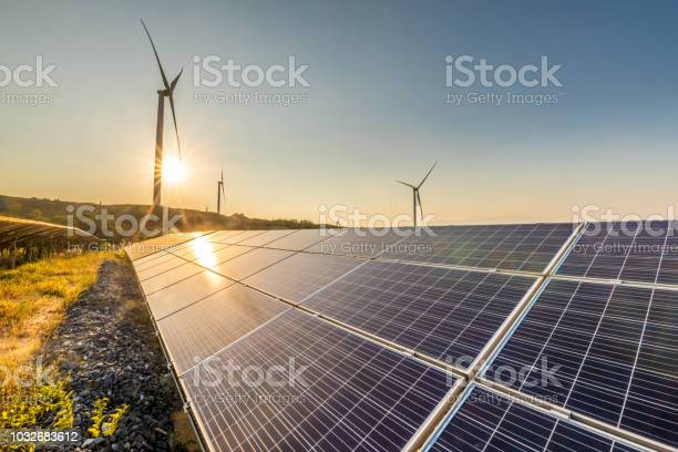 Solar energy and wind power stations picture id1032683612?b=1&k=6&m=1032683612&s=612x612&h=zexfu5rnbljq18r zywra8nub5jb5azotm6eksb0owc=