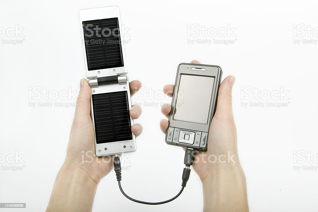 Solar energy charger royalty-free stock photo