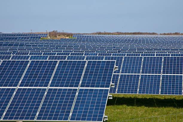 Solar Energy Farm England stock photo