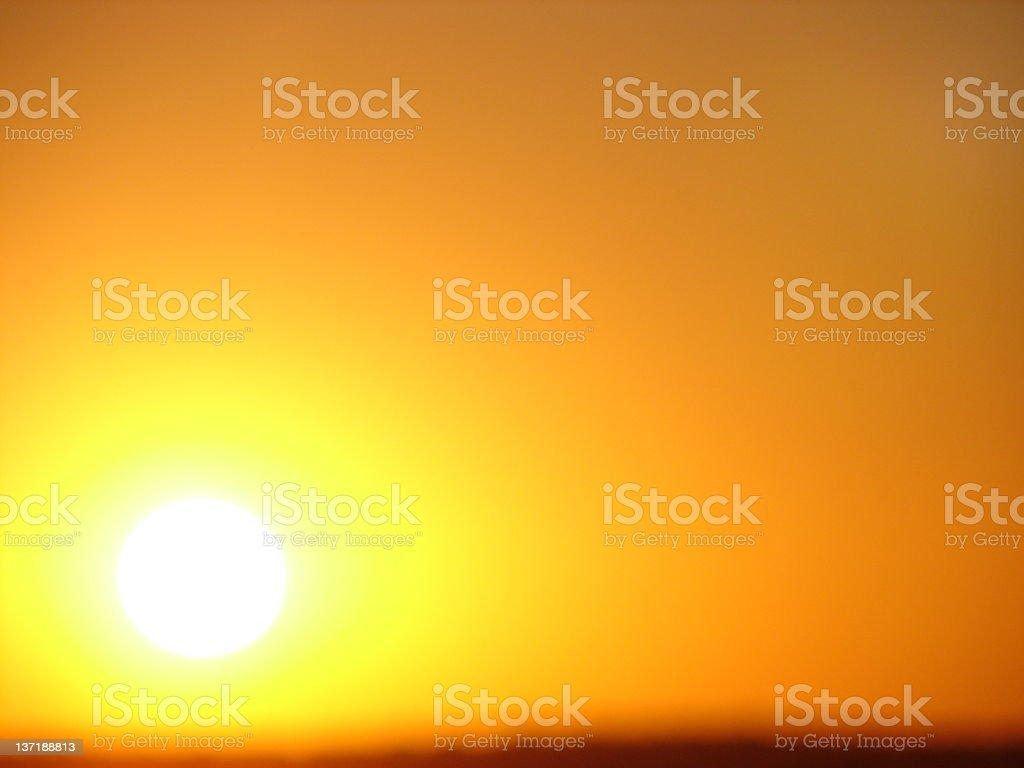 Solar Energy Light Show stock photo
